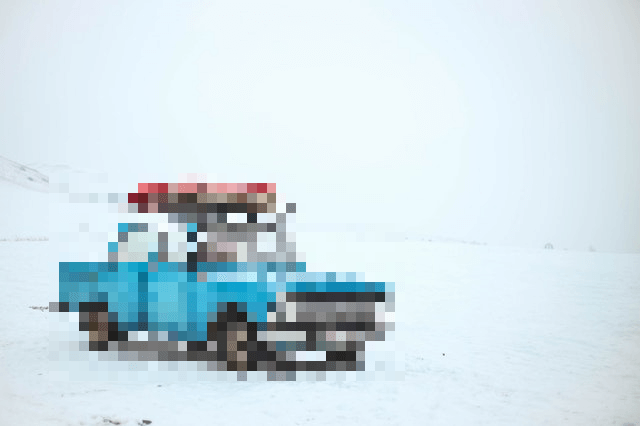 This example pixelates a rectangular area of a PNG picture. In this sample, the car gets pixelated, while the background is left without changes.