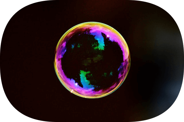 This example rounds corners of a soap bubble PNG and sets radius to 200px, almost making the PNG round.
